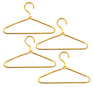 4 Gold Wire Clothes Hangers