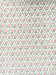 3 Sheets of Racheal Pink & Cream Wallpaper