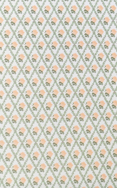 3 Sheets Of Racheal Peach White Wallpaper