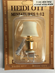 Heidi Ott Brass Table Lamp With Small White Shade