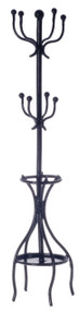Black Metal Coat & Hat Stand