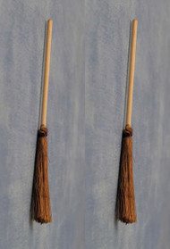 Two Wooden Brooms / Brushes