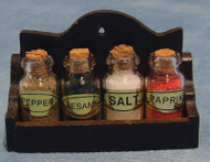 Spice Jars In Rack