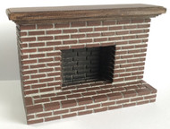 Small Tudor Style Red Brick Fireplace