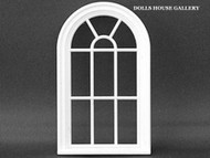 24th Scale  White Victorian 10 Pane Curved Window