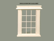 24th Scale Georgian 12 Pane Window Slightly Cream Colour