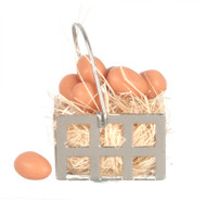 Eggs In Metal Basket