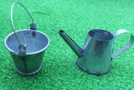 Bucket and Large Watering Can