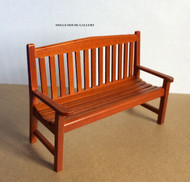 Wooden Garden Bench (Walnut)