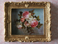 Rose Picture In Ornate Golden Frame