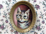 Oval Cat Portrait