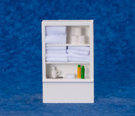 Bathroom Closet / Shelving With Fixed White Towels