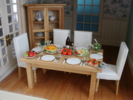 Cream / Wood Dining Room Set