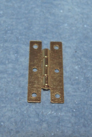 4 Brass Plated Hinges 15mm x 7mm & Nails