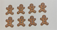 8 Gingerbread Men Buttons