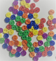 Sew Through Buttons 3mm Primary Multi Colours, Approx. 50 Pack