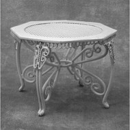 White Wire Garden Table