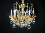 Heidi Ott Real Crystal Chandelier (6-Arm)