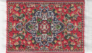 Small Turkish Carpet Rug Red Patterned