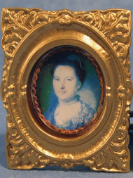 Very Ornate Framed Lady Portrait Picture