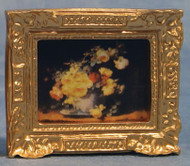 Ornate Framed Flowers Picture