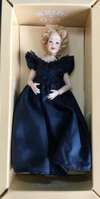 Heidi Ott Lady Doll Wearing A Black Evening Dress