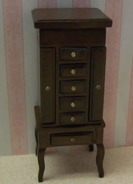 Heidi Ott Jewellery Cabinet In Walnut Finish