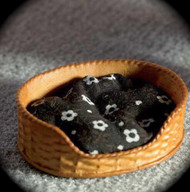 Pet Bed with Comfy Black Cushion