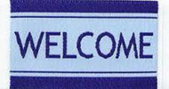 Welcome Door Mat Blue