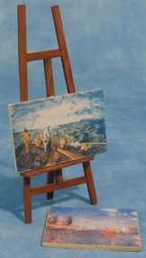 Wooden Painting Easel With Two Pictures