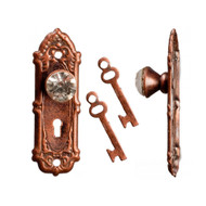 Opryland Crystal Door Handles In Bronze With Keys