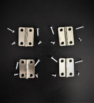 4 Silver Hinges & Screws
