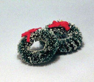 2 Christmas Wreaths With Red Ribbons