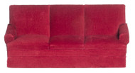 Red Velour Sofa