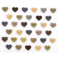 Love Heart Sew Through Micro Buttons 6mm , Approx. 40 Pack