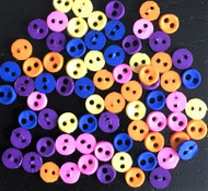 Colour Storm Sew Through Micro Buttons 3mm , Approx. 50 Pack