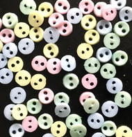 50 Sew Through Buttons 3mm Innocence