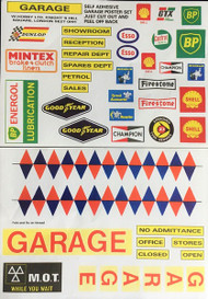 Garage Poster Sticker Set