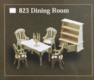 1/12th Scale Dining Room Furniture Set