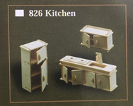 1/12th Scale Kitchen Room Furniture Set
