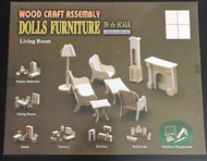 1/12th Scale Living Room Furniture Set