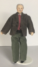 Old Man Bob Doll With Stand Included