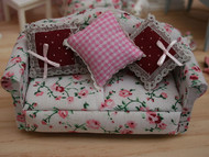 Floral Sofa With Three Cushions