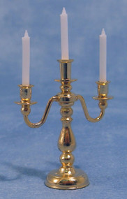 Small 3 Arm Candelabra in a Quality Brass Finish