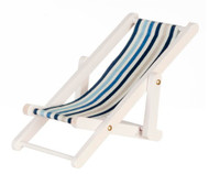Striped Deck Chair White & Blues