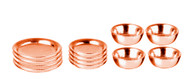 Copper Dishes 12 Piece Set