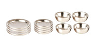 Silver Dishes 12 Piece Set