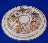 Heidi Ott Large Ceiling Rose Gilt Painted 70mm