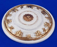 Heidi Ott Small Ceiling Rose Gilt Painted 35mm