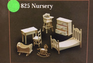 1/12th Scale Nursery Furniture Set